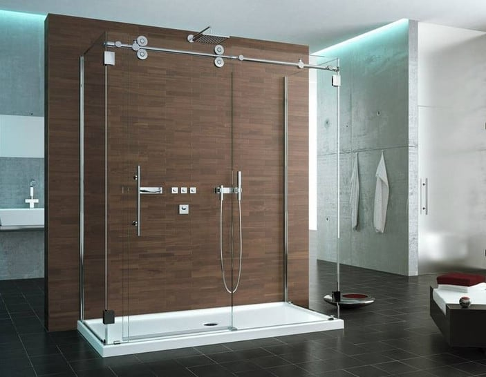 modern glass shower door design