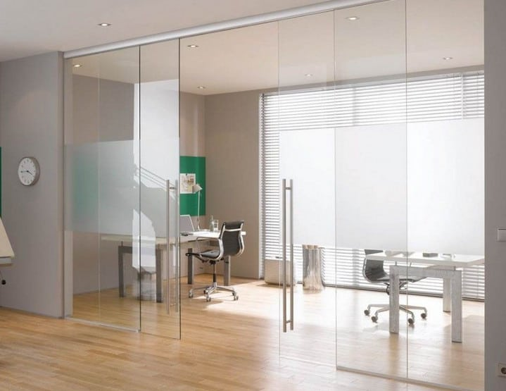 sliding glass door design for office
